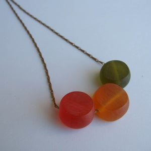 Image of JuJube Necklace - Red/Orange