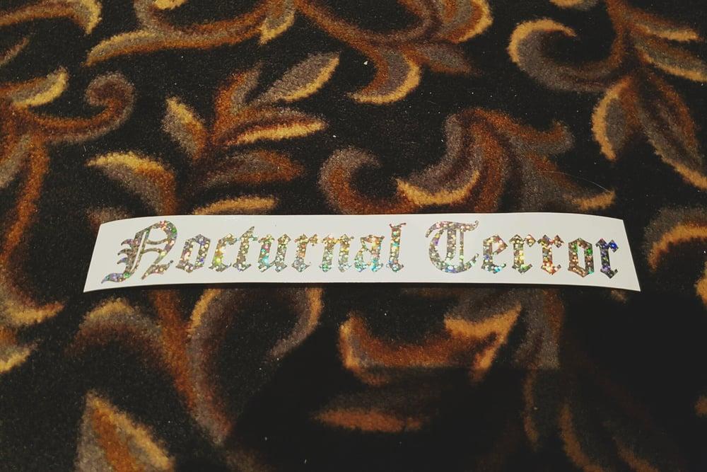 Image of Nocturnal Terror * die cut silver RESTOCK