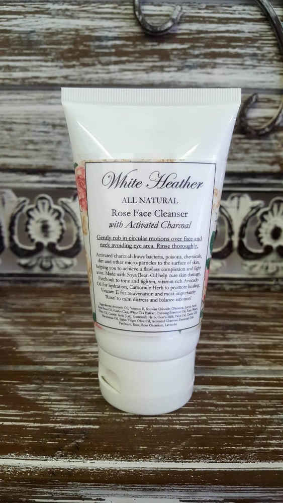 Image of Rose Face Cleanser with Activated Charcoal