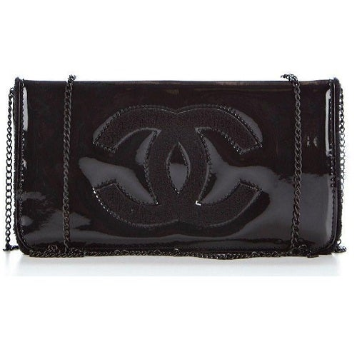 Image of Chanel Beaute Vip Gift Cosmetics Makeup Clutch Black Chain Bag - RARE