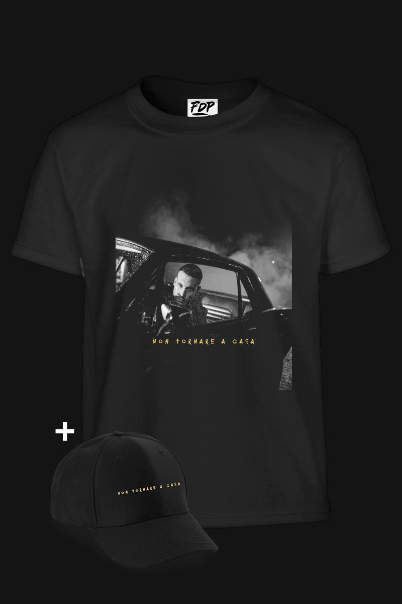 Image of FDP CLOTHING SPECIAL EDITION / TSHIRT + HAT NON TORNARE A CASA