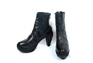 Image of Guidi 15006 Soft Horse Full Grain Back Zip High Heel Boots