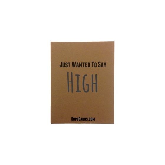 Image of Wanted to say high (4 cards)