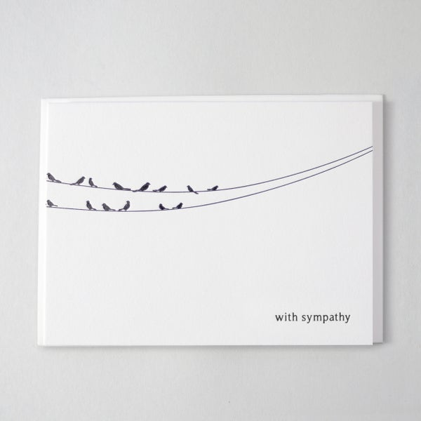 Image of Sympathy Card  Birds - English