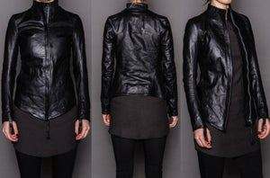 Image of Boris Bidjan Saberi Women's Calf Leather Jacket