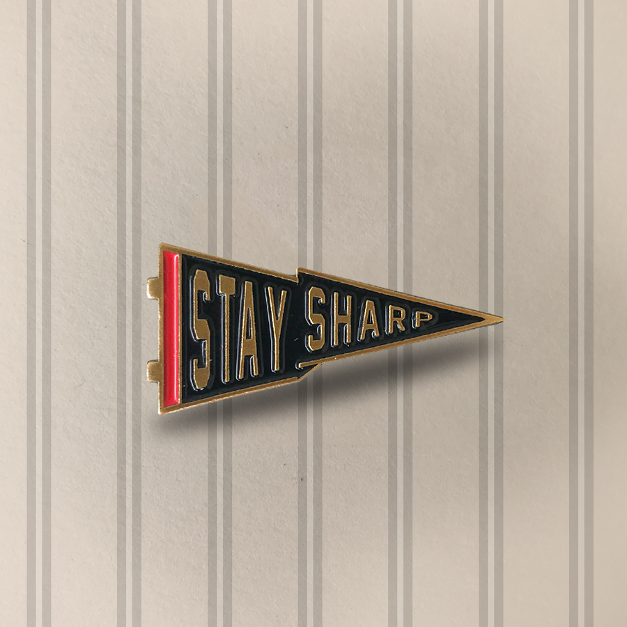 Image of Stay Sharp - Lapel Pin