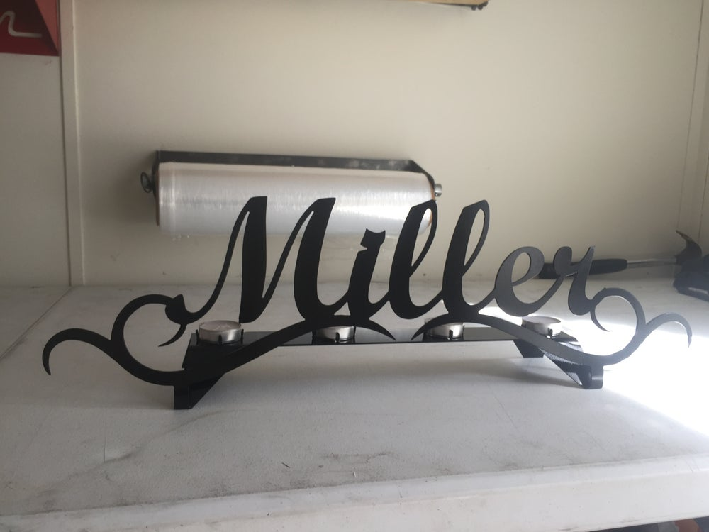 Image of Personalized Candle Stand