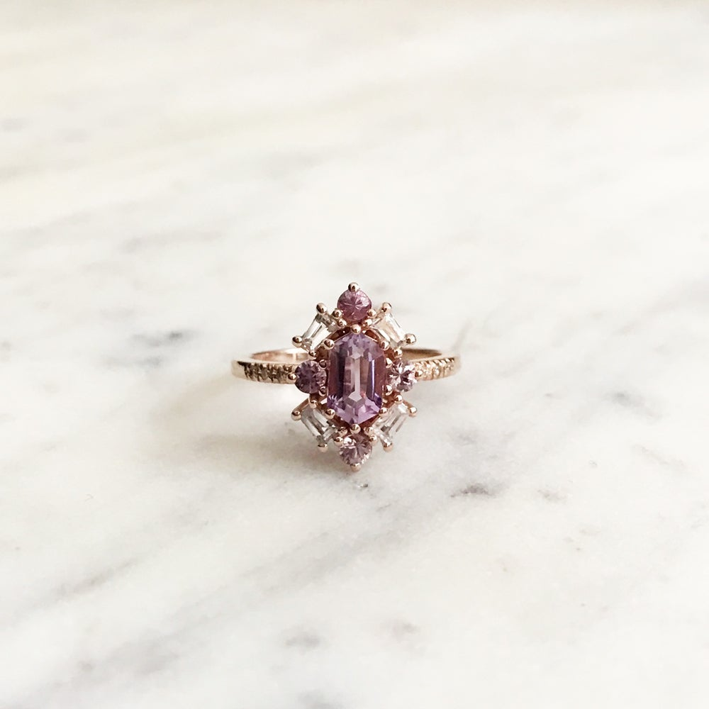 Image of Emma Deco Amethyst Ring