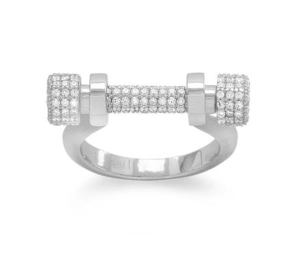 Image of Touch of elegance barbell Ring