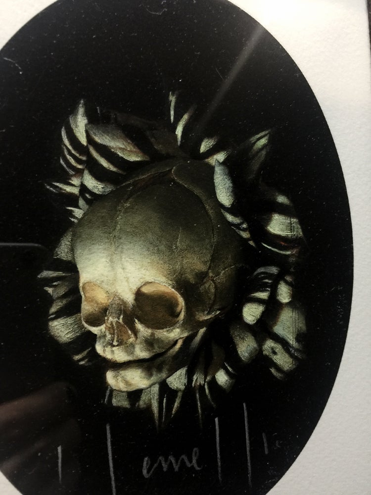 Image of 'FOETAL SKULL OF NASCENCY' - Framed Miniature Open Edition Print
