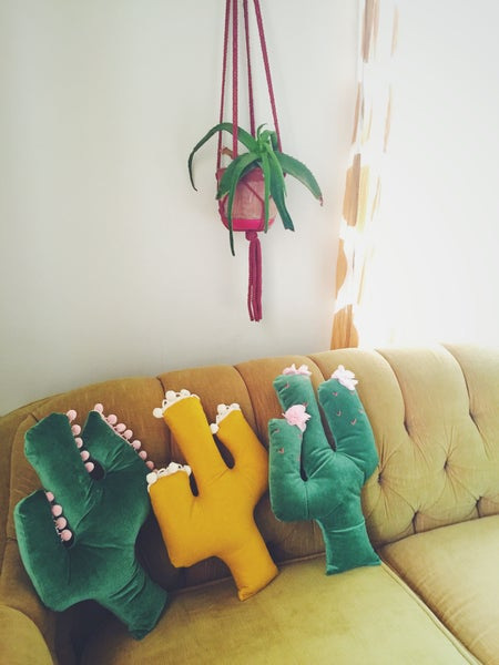 Image of Decorative Cactus Sofa Pillow -