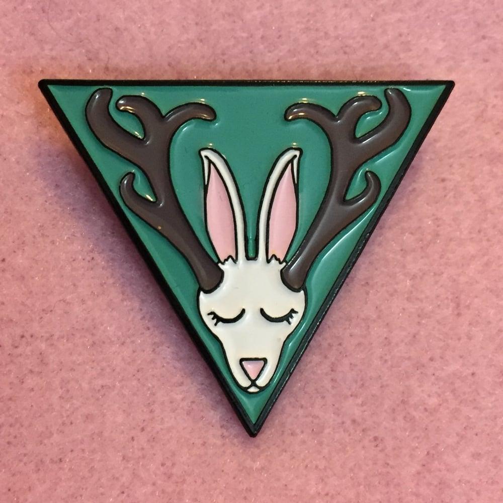 Image of Jackalope enamel pin