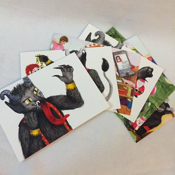 Image of Krampus greeting card set