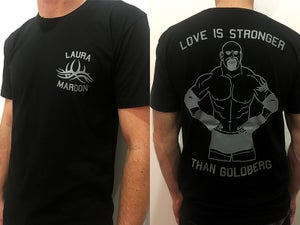 Image of Laura Mardon / Love Is Stronger Than Goldberg shirt