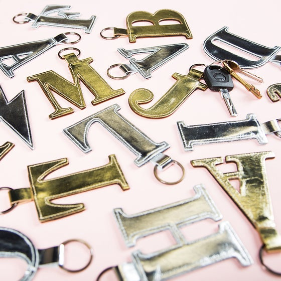 Image of CLASSIC alphabet letter keyring