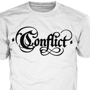Image of CONFLICT 'Old Logo' White Shirt