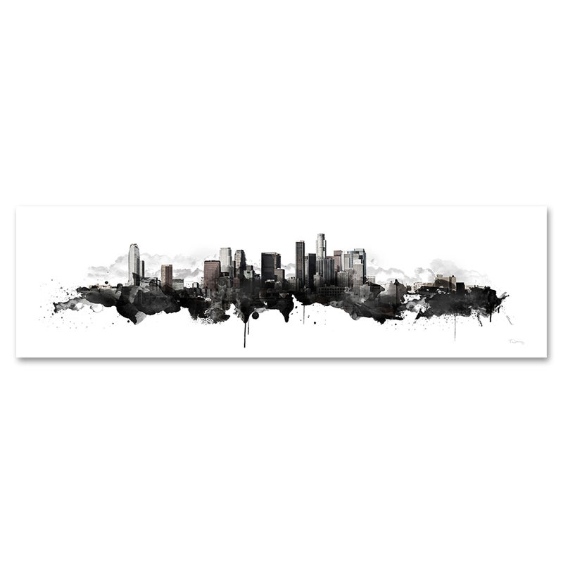 Image of Los Angeles Watercolor Skyline