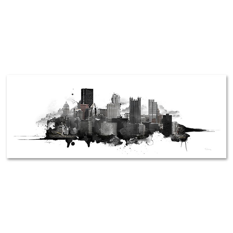 Image of Pittsburgh Watercolor Skyline