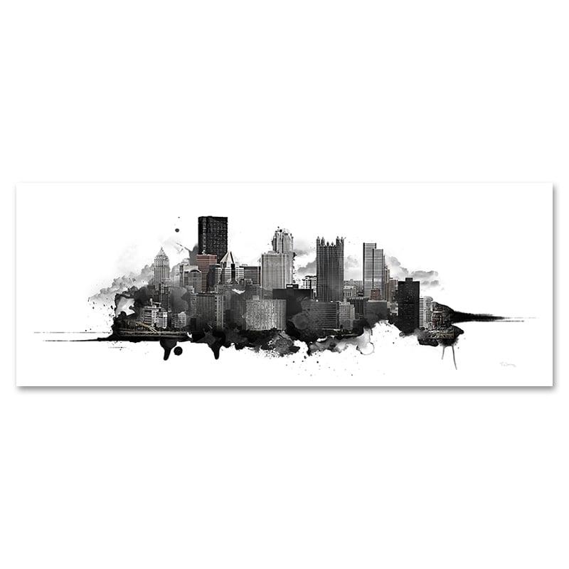 Image of Pittsburgh Watercolor Skyline