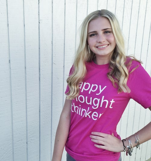 Image of HAPPY THOUGHT THINKER TEE