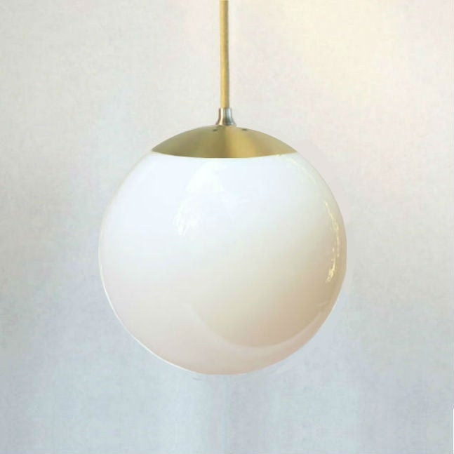 Brass globe light