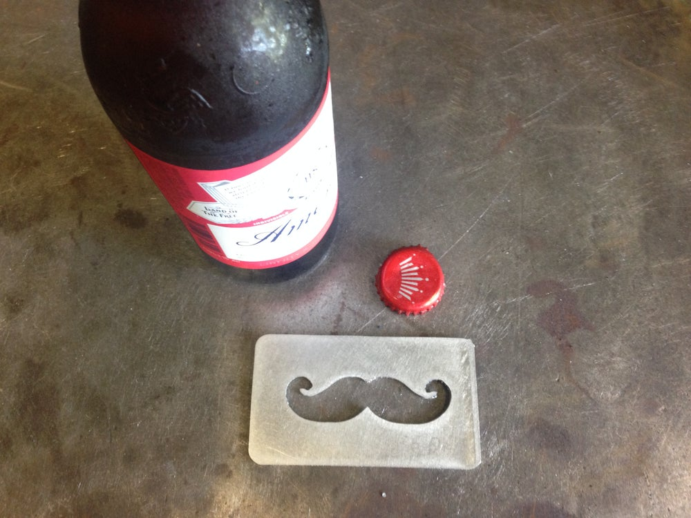 Image of Man-Card Mustache Bottle Opener