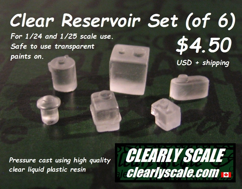 Image of Clear Reservoir Set (of 6)