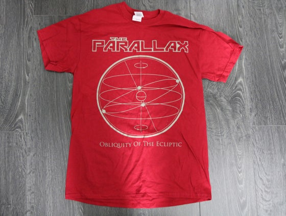 Image of 'Obliquity of the Ecliptic' Tee - Red