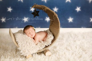 "Image of Natural Tan, Over the Moon! Rustic & Organic Looking Woodsy Wonders, Half Moon, Newborn Baby ""Poser"""