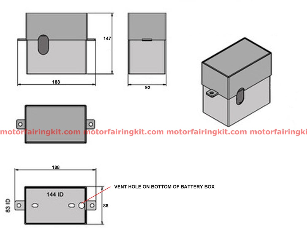 Image of Heist Bobber Motorcycle Battery Box
