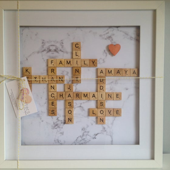 Image of Extra Large Scrabble Family Frame (11 - 12words)