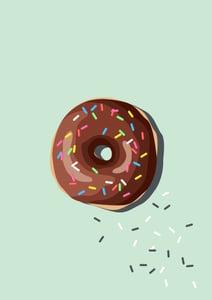 Image of Doughnut Giclee Print