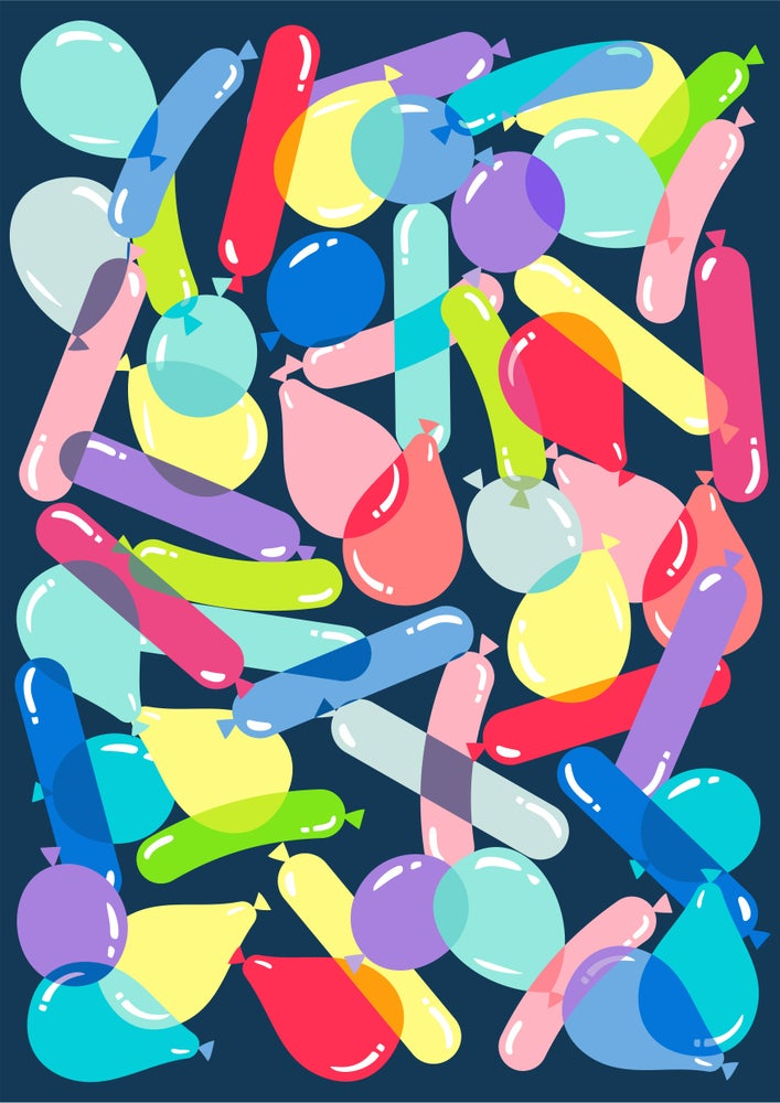 Image of BALLOONS!! Giclee Print