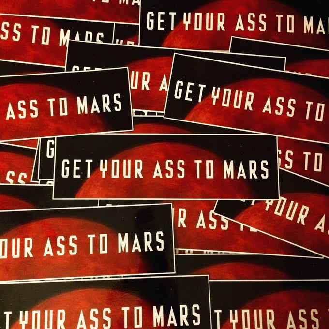Image of MARS Bumper Sticker