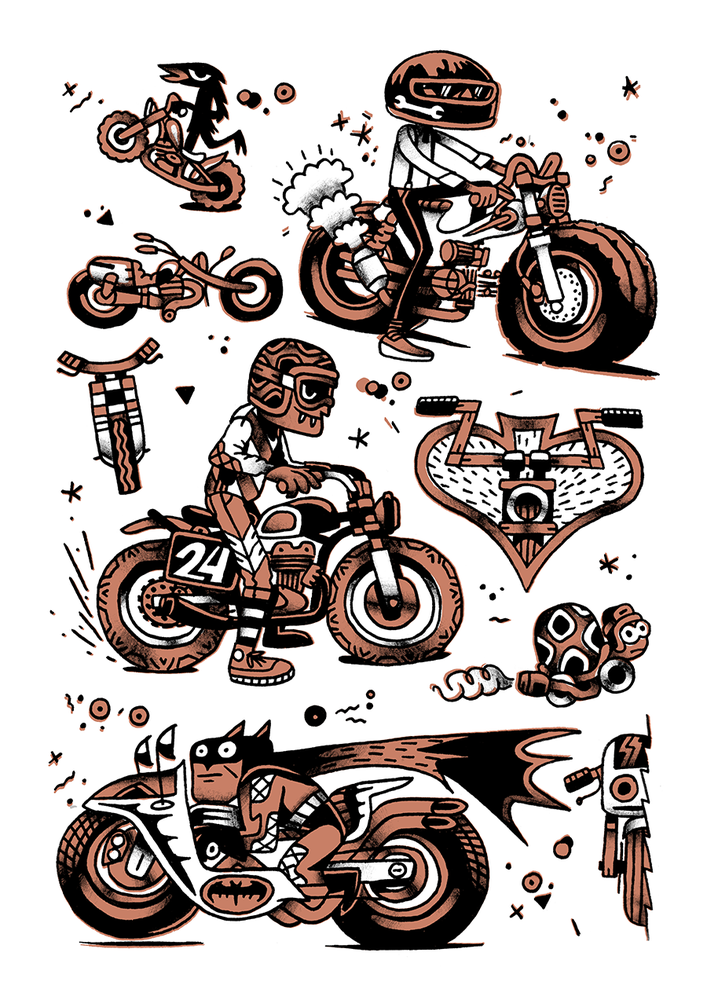 Image of Motorcyle Print