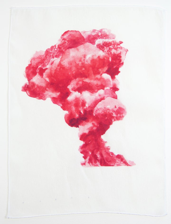 Image of Eruption 3 Silk Print