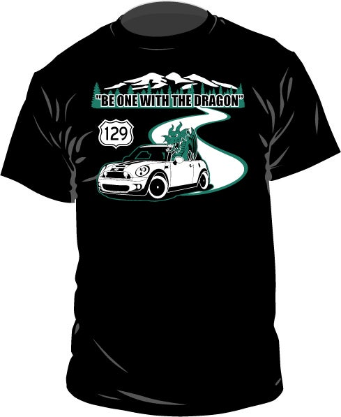 Image of BE ONE WITH THE DRAGON 129 ADULT CUT TEE SHIRT