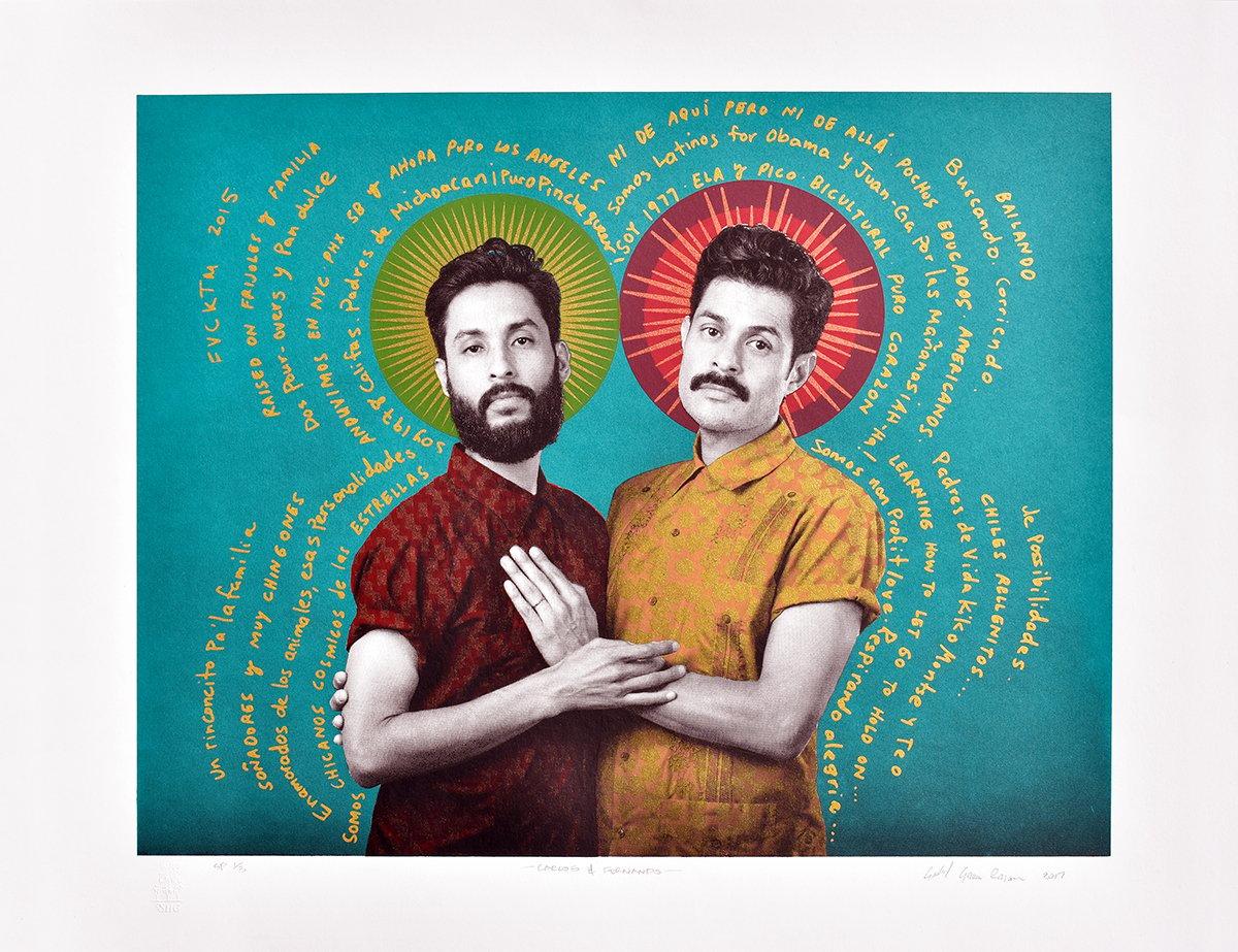 Image of Carlos & Fernando, Serigraph by Gabriel Garcia Roman