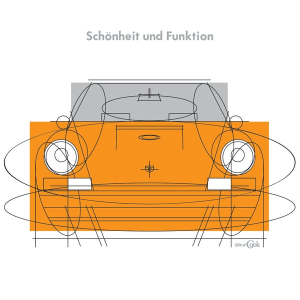 Image of Porsche Beauty & Function Print