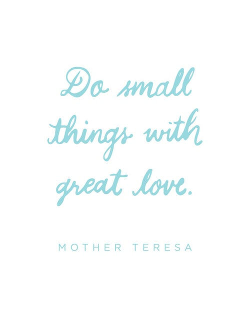 Image of Mother Teresa - Small Things