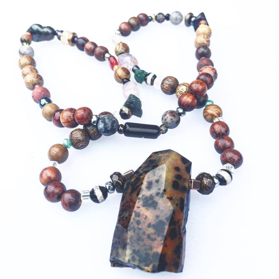 Image of The Supreme Nurturer <3   Jasper Mala with assorted supporting Crystals