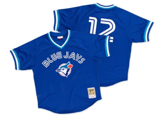 Image of Roberto Alomar 1993 Authentic Mesh BP Jersey Toronto Blue Jays