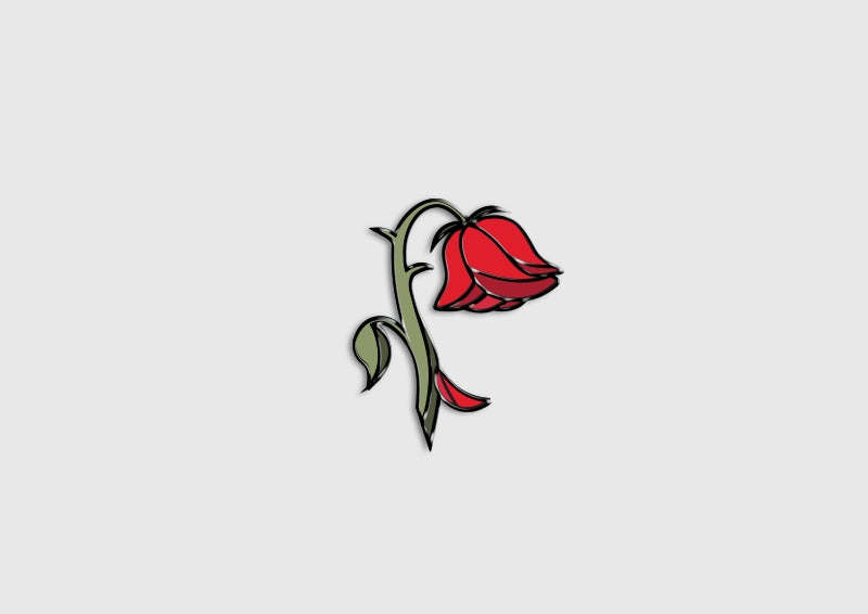 Image of AN008 - Like a Kiss From a Rose Pin