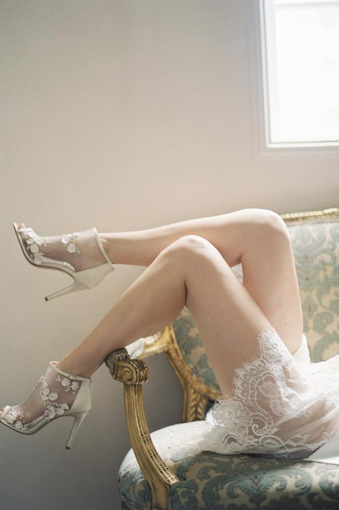 774ef9f3e2ba Boudoir Bridal Lace Robe in off-white