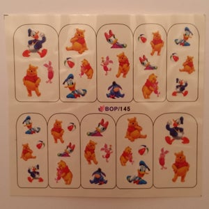 Image of Mickey, Minnie & Pooh water decals (5 designs)