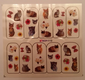 Image of Spring Feather, Cats or Dogs themed water decals (5 designs)