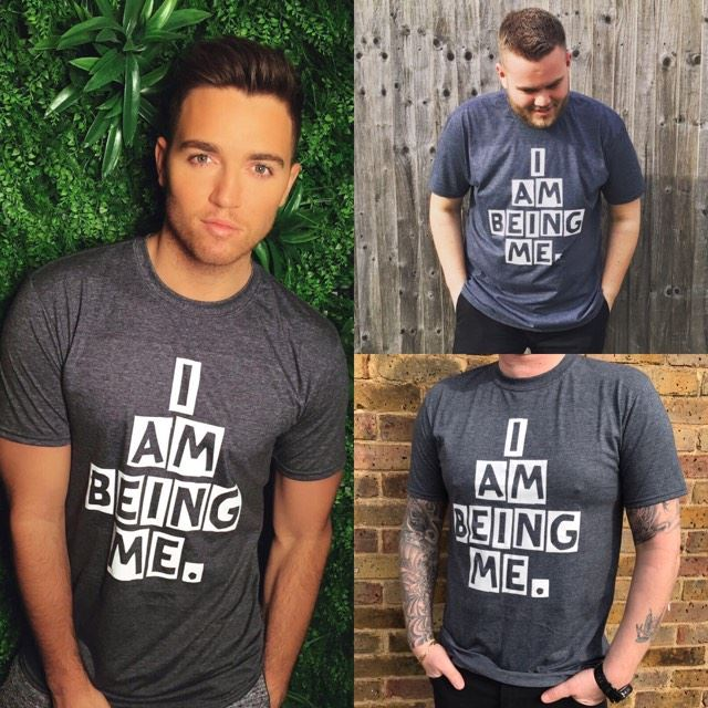 Image of #IAmBeingMe Charcoal Grey Tee