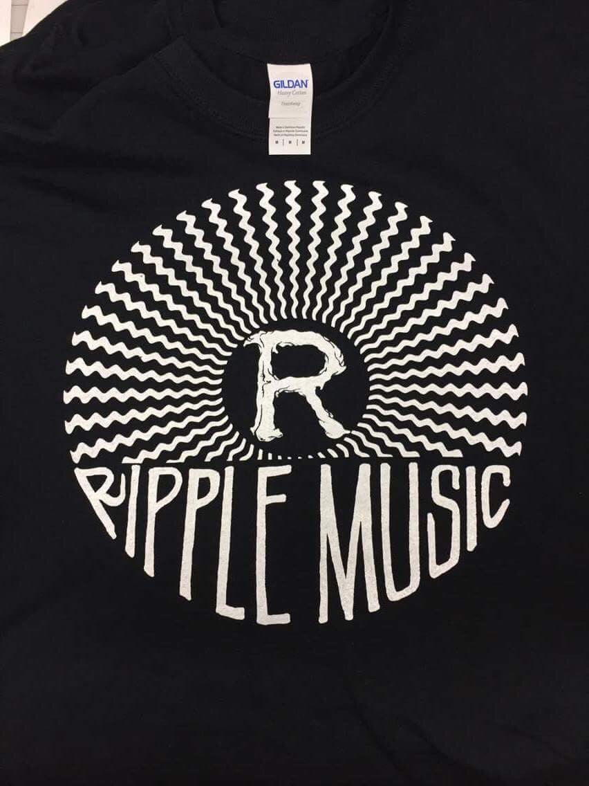 "Image of Ripple Music ""sound waves""  T-shirt (Black)"