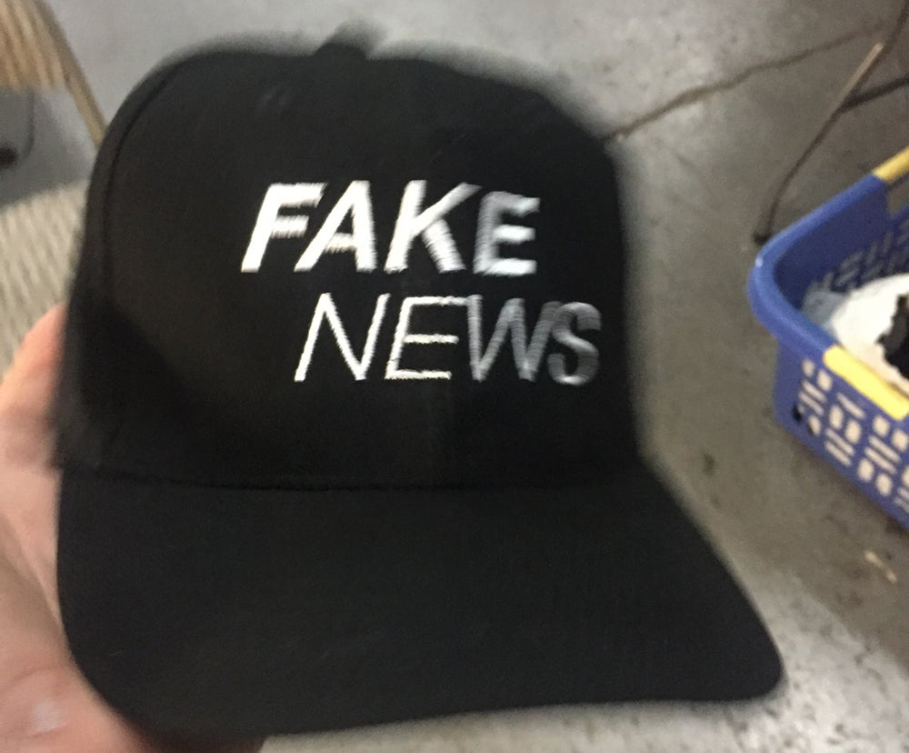 Image of Fake News embroidered cap
