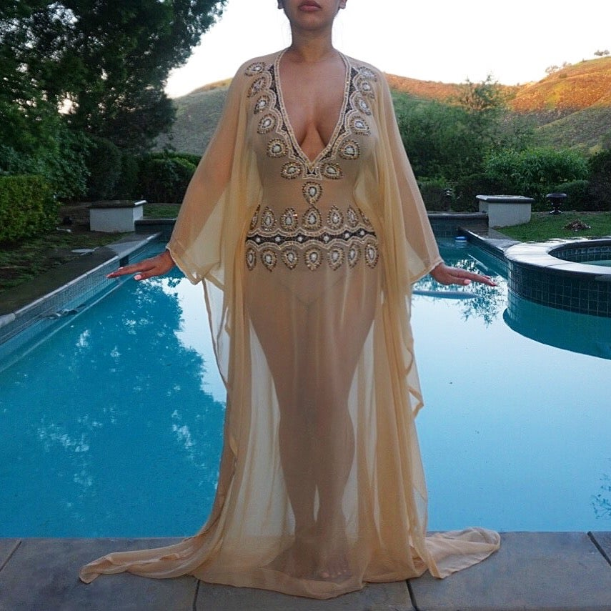 Image of Athens Jeweled Kaftan